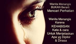 Wanita sulit untuk memahami perasaannya