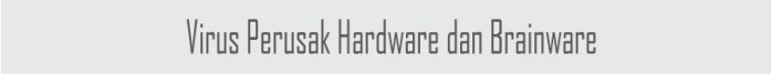 Virus perusak hardware dan brainware