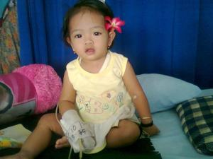Naila opname saat umur 11 bulan