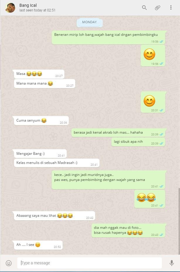 Chat dengan Bang Ical - Wajah yang sama