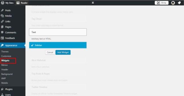 Cara membuat sitemap di sidebar wordpress
