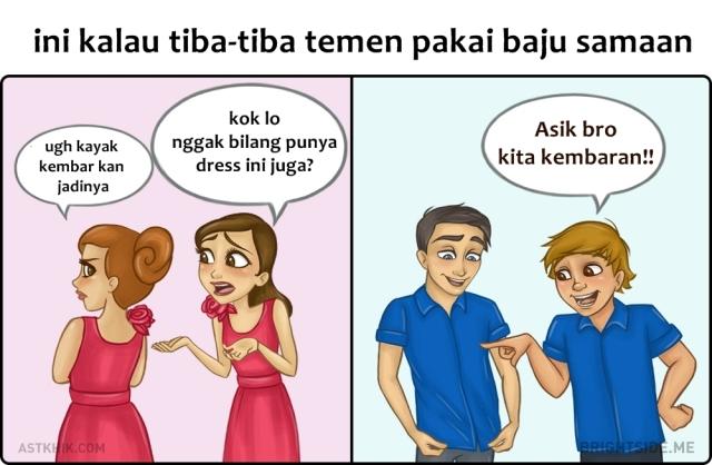 5. Ketika Dihadapkan Dengan Baju Yang Sama Di Sebuah Pesta
