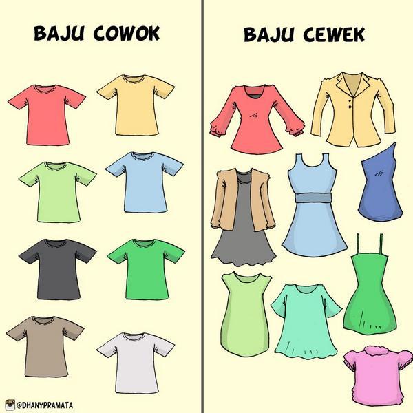 6. Berapa Baju Yang Dibutuhkan Cewek Dan Cowok
