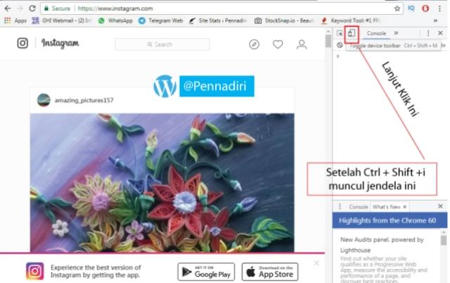 Cara Mempublish Foto/Video Ke Instagram Via PC Desktop Tanpa Aplikasi