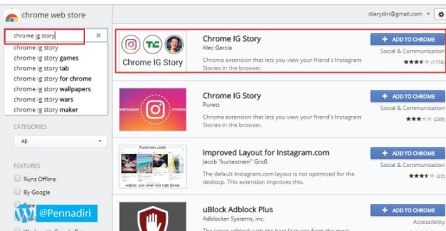 Cara Melihat Instagram Story Di Browser (Instagram Desktop)