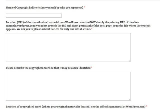 DMCA Automattic - pelaporan hak cipta di wordpress