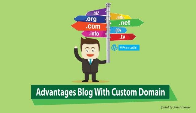 Advantages blog with custom domain (Top Level Domain)
