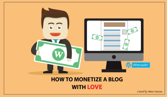 How to monetize a blog with love