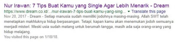 Ketika Ku ketik Namaku Di Google Search, Inilah Yang Terjadi